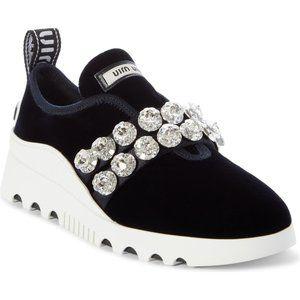 MIU MIU Jewel Strap Slip-On Sneaker sz 5.5